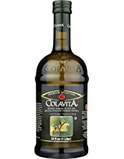 Colavita Premium Selection Extra Virgin Olive Oil, Glass Bottle, 1 Liter