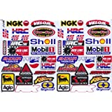 Sponsor Racing Decal Sticker Tuning Racing Sheet Size: 27 x 18 cm for Car or Motorbike