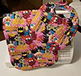 Wonder woman and Bat Girl Bib and Burp Cloth set