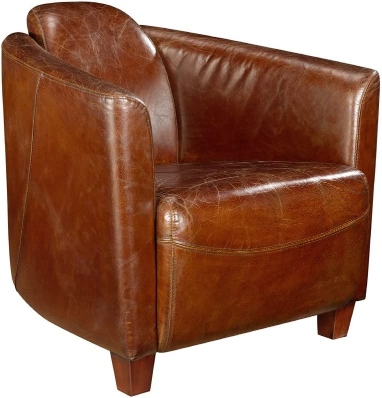 Moes Home Collection Salzburg Club Chair, Brown