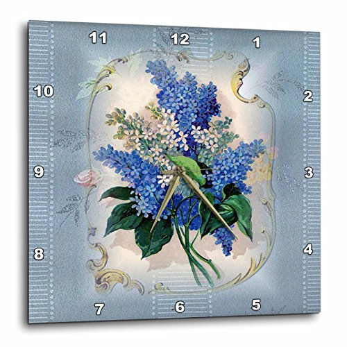 3dRose Victorian Lavendar Floral - Wall Clock, 10 by 10-Inch (dpp_37379_1)