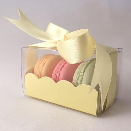Amarillo claro cajas de macarons - Pequeño: Paquete de 10: Amazon.es: Hogar
