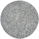 Safavieh Milan Shag Collection MLS431S Handmade Silver Polyester Round Area Rug, 5-Feet in Diameter