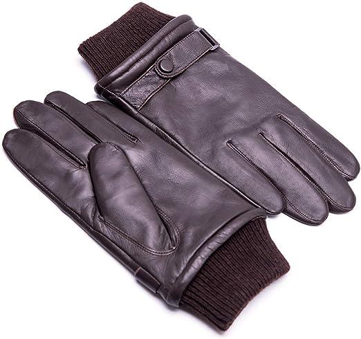 GSG Gants de conduite /à /écran tactile de luxe pour hommes en cuir nappa