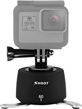 Suptig Tripod Mount Camera Tripod Mount Electric 360 Degree Tripod Head Compatible for Gopro Hero 8 Hero 7 Hero 6 Hero 5 Hero 4 and iPhone Samrtphone Digital Camera Action Camera