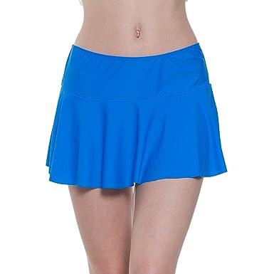 info for 49be6 64d9d YoungSoul Damen Baderock Tankini/Bikini Rock Badeshorts Strandrock mit  Integrierter Hose