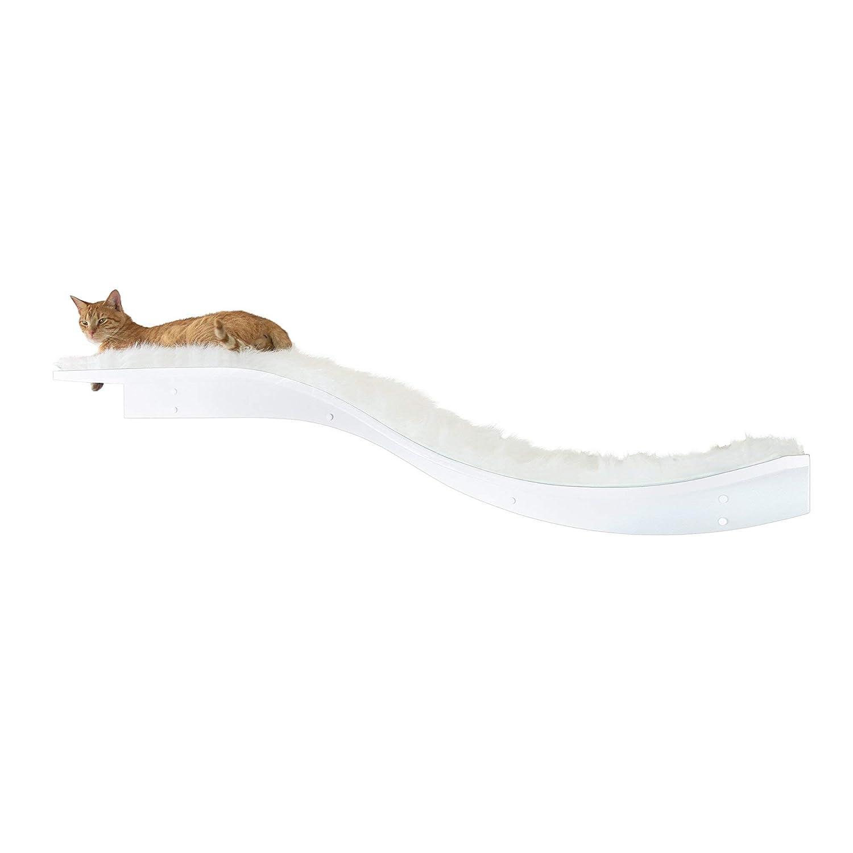 White The Refined Feline Lotus Branch Cat Shelf White