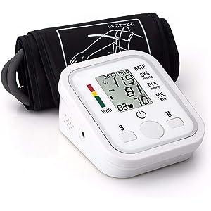 Elenxs Pantalla LCD de Alta presión Arterial del Brazo del Monitor de presión Tester Medidor de