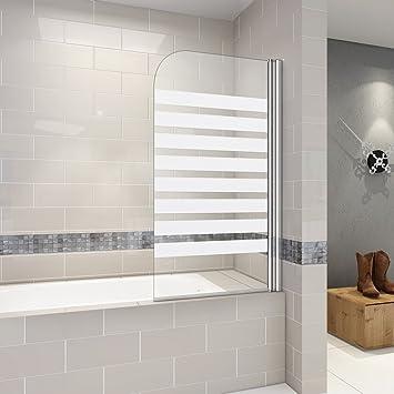 Mampara de bañera giratoria en 180°, mampara de ducha, 6 mm ...