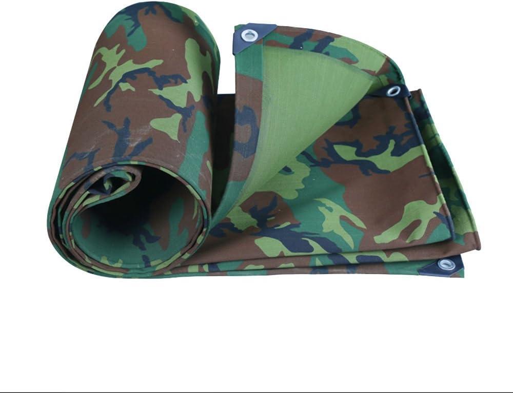 Shading Net PH HTZ Camuflaje Militar Lonas De Tiendas De Campaña Y Lonas Lona Impermeable Protector Solar Lona del Toldo Engrosada Aceite De Paja Dosel 0.8mm A+ (Size : 4 * 5m):