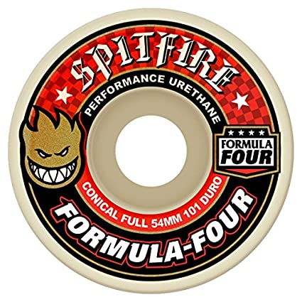 Spitfire F4 101d Concl – Juego de 4 Ruedas de Skateboard Unisex