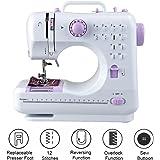 Milkee mini Nähmaschine 12 Nähprogramme Haushaltsgeräte Stichprogramme (WT)