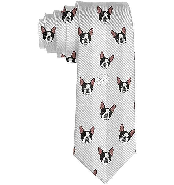 Unisex Funny Winer Dog Head Seda Corbata Hombres Skinny Tie ...