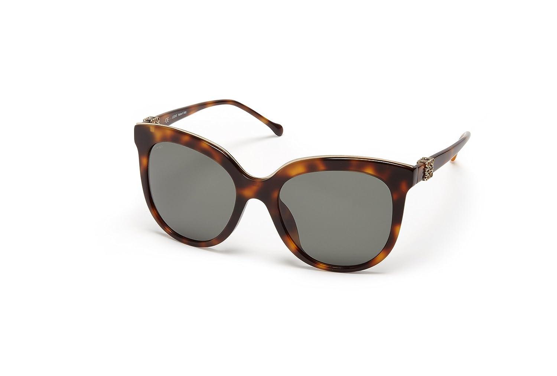 LOEWE Women' 's SLW948G5709AJ Sunglasses, (Shiny Brown Havana), 57