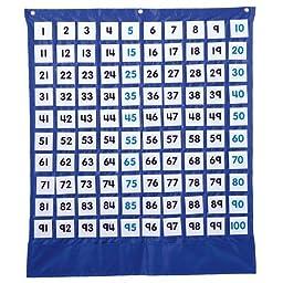Carson Dellosa Deluxe Hundred Board Pocket Chart (158157)