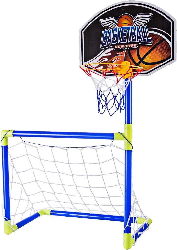 MRKE 2 en 1 Portátil Plegable Canasta Baloncesto Infantil + ...