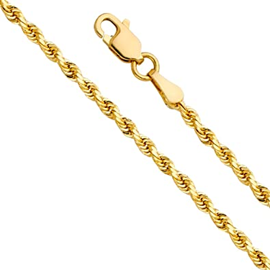 1.3mm 14k Gold Diamond-Cut Round Cable Chain Necklace with Lobster Clasp