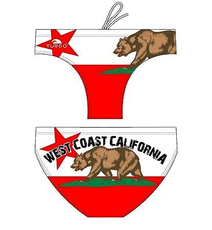 Turbo - Bañador de waterpolo california west, talla XL, color multicolor