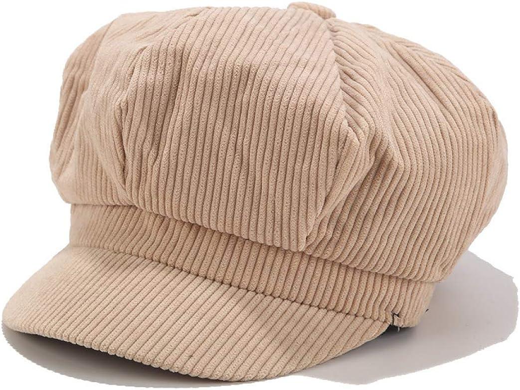 Corduroy Beret Hat Women...