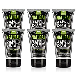 Pacific Shaving Company - 6 PACK Natural Shaving Cream, Best Shave Cream for Men and Women - Safe Ingredients, Travel/TSA Friendly 3.4 ounce