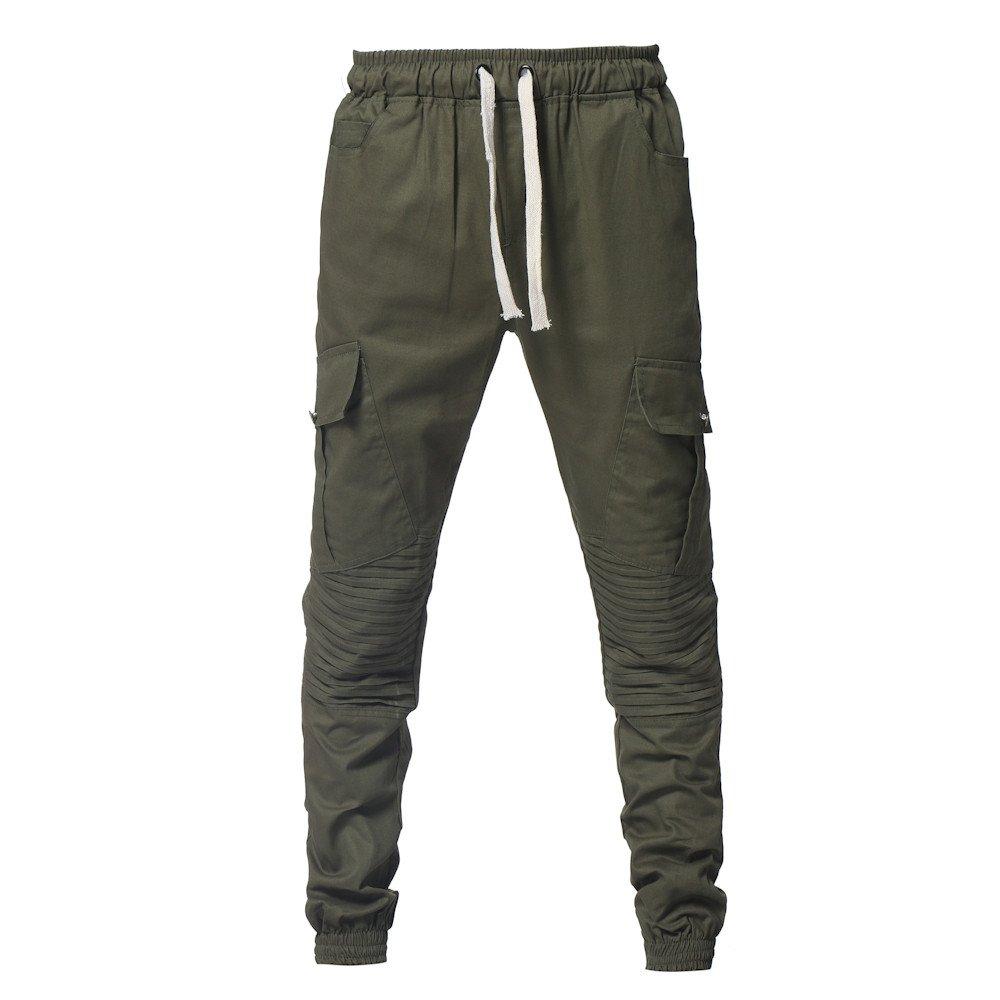 Spbamboo Mens Pants Sport Camouflage Pockets Casual Loose Drawstring Sweatpants by Spbamboo (Image #4)