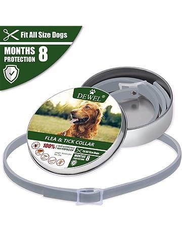 Collar Antiparasitos Perros/Gatos contra Pulgas,Garrapatas y Mosquitos,Tamaño Ajustable e Impermeable