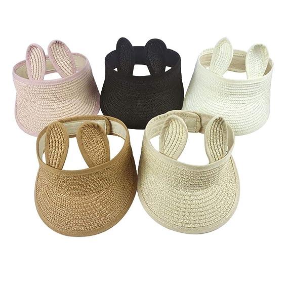Baby Sunhats 2019 DEELIN Unisex Toddler Infant Kids Boys Hats Girls Caps Folding Bunny Straw Hats Visor Cap Adjustable Sunhats