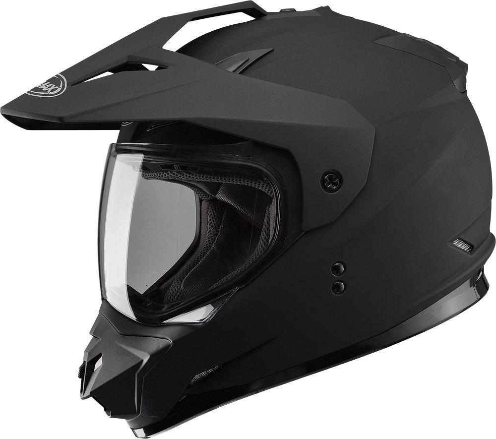Gmax GM11D Dual Sport Full Face Helmet (Flat Black, Large)