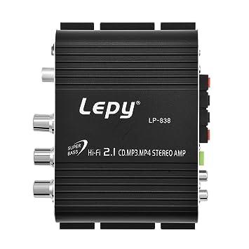 Zerone Mini Amplificador De Potencia De Audio Estéreo Bajo HiFi de 2 Canales Amplificador De Interior