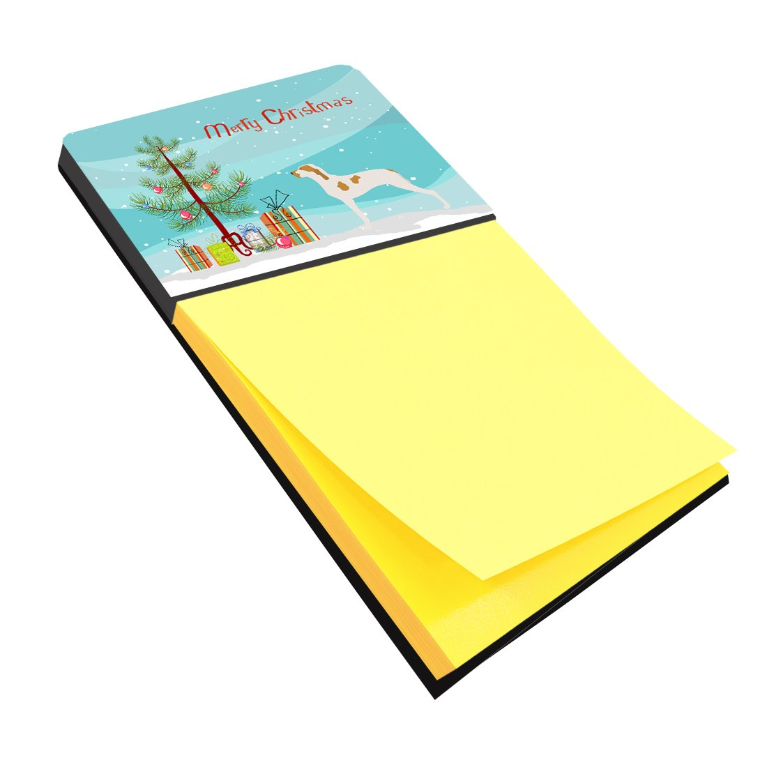 Multicolor Large Carolines Treasures BB8434SN Ariege Pointer Christmas Sticky Note Holder