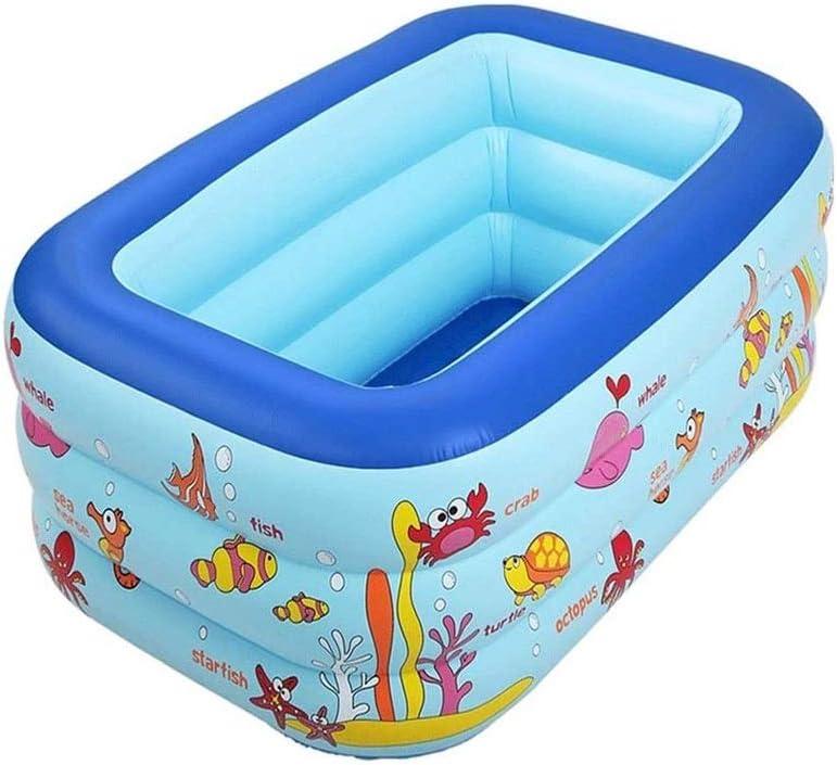 ZYSWP Engrosamiento de los pliegues de la bañera inflable, Hogar espesado bebé plástico piscina infantil simple burbuja Piscina for niños