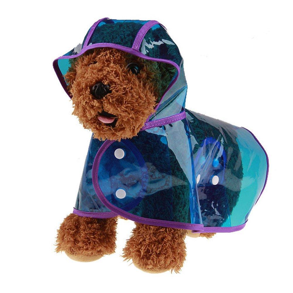 Pet Raincoat Cinsanong Puppy Pet Hooded Rainwear Dog Waterproof Jacket Clothes
