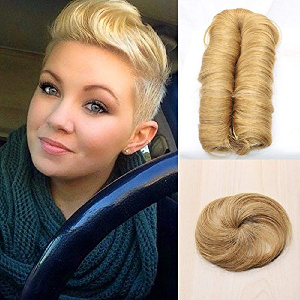 Amazon.com   Wholesale 27 Pieces Blonde Short Weave Human Hair Extensions  Virgin Peruvian Hair With Closure Sexy Pixie Bump Hair Weave For Black  Women (27 ) ... b8ba38694d20