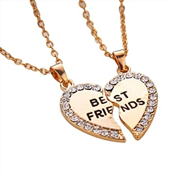 diamond half heart white necklace pendant stlpd gold