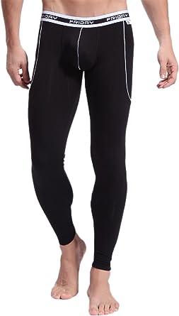 ARCITON Mens Low Rise Leggings Long Johns Bottoms Thermal Pant