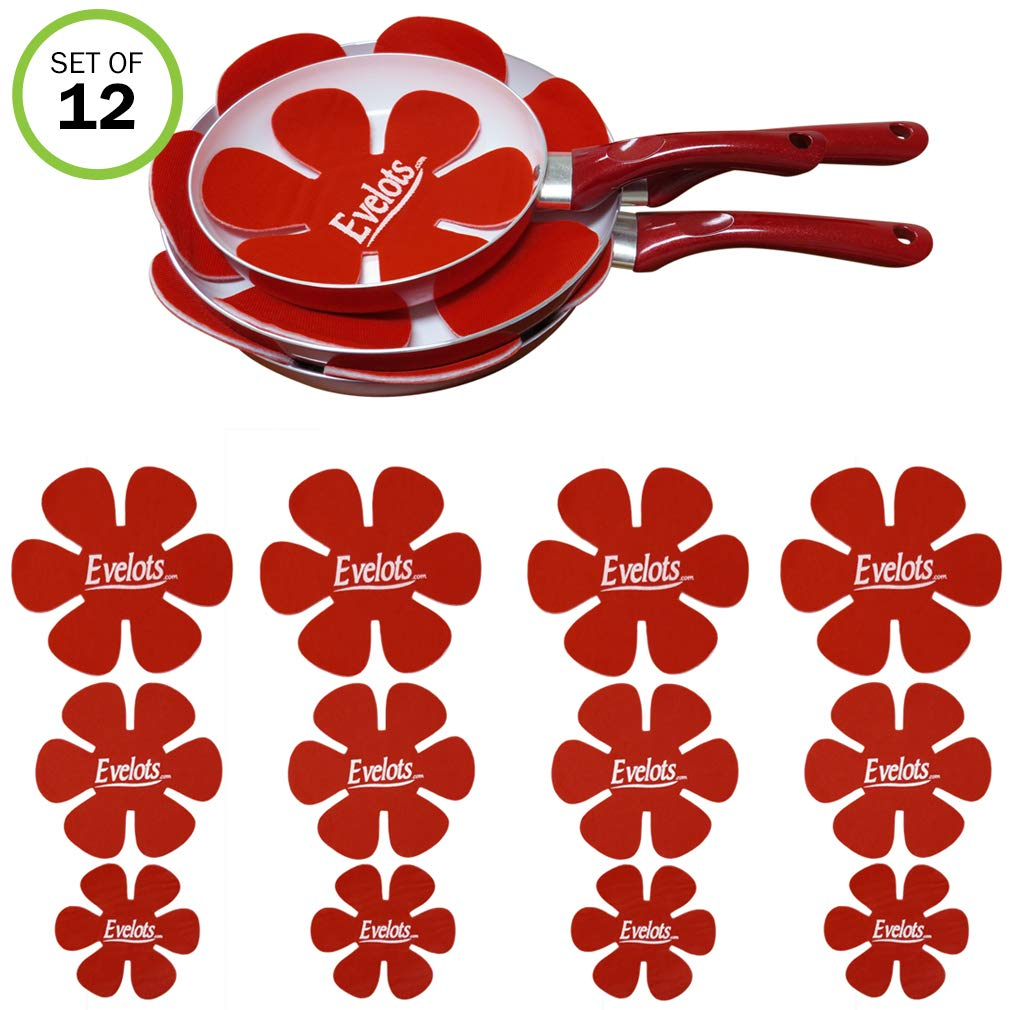 Evelots Felt Dish & Pan Scratch Protectors-Ceramic-Glass-Cookware-Divider-Set/12 by Evelots (Image #1)