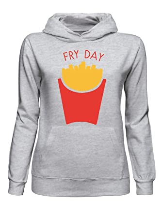 Friday is Fry Day French Fries Frites Fritten Men's Hooded Sweatshirt xIHrii