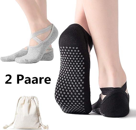 1er und 2er Sets rutschfest YogaAddict zehenfreie Socken Barren/übungen Pilates f/ür Yoga Tanz