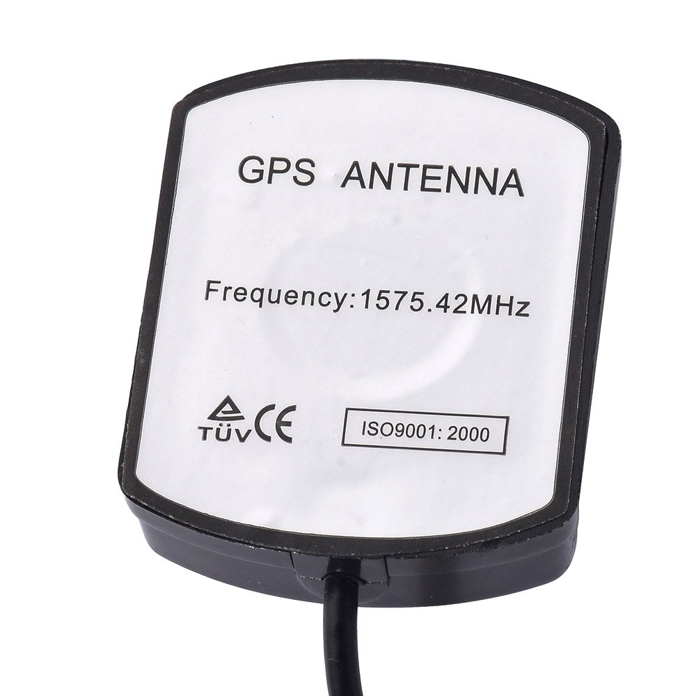 Eightwood GPS Active Antenna with Green AVIC Connector 3m Cable Compatible for Pioneer Navigation Receiver