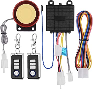 Start ABS Horn Alarm System Remote Control Security Motorcycle Anti-theft