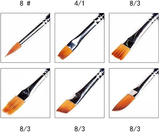 QWEF Pinsel-Set 10 St/ück Malen K/ünstlerpinsel Nylon Pinsel Acryl Aquarellmalerei /Ölmalerei Gouache Malerei f/ür Anf/änger Kinder Erwachsene