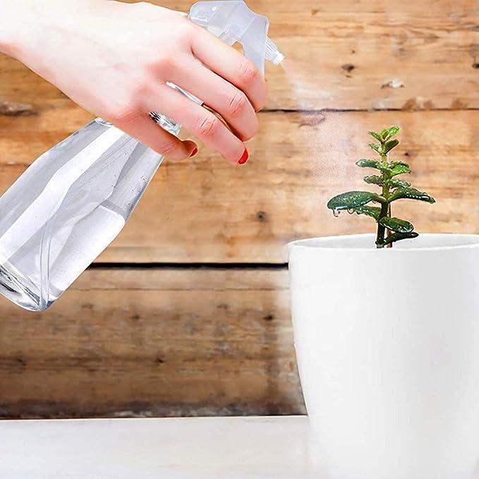 Wasser Reinigungsl/ösung Haustier Garten JiatuA Spr/ühflasche 300 ml Kunststoff Zerst/äuber Leere Spr/ühflasche mit Verstellbare Spr/ühkopf Transparent Grau Bad Spr/üher f/ür K/üche