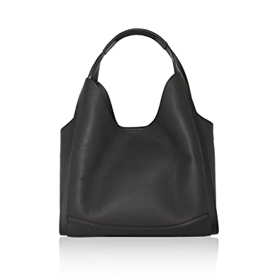 bd5686a817c KRIZIA Shopper Tote shoulder bag removable fabric inner clutch grained  genuine leather Made in Italy