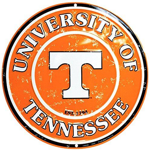 University of Tennessee Volunteers Collegiate Embossed Metal Circular Sign CS60099