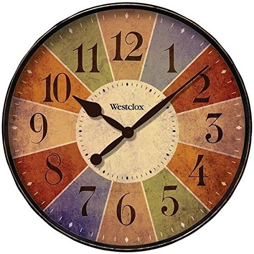 Westclox - round wall clock - rand wall art decor - colorful wall clock
