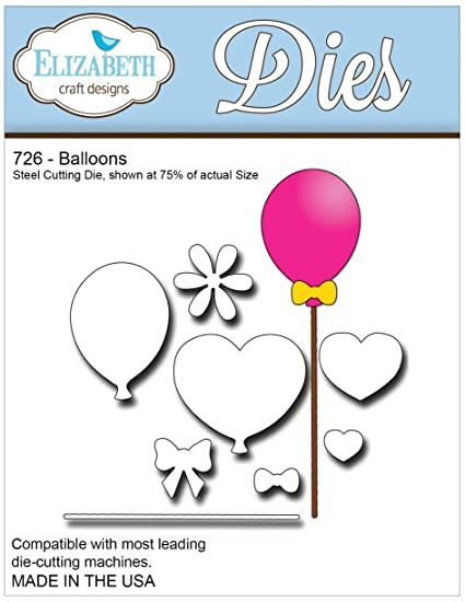 Amazon Com Elizabeth Craft Designs Balloons Metal Die Arts Crafts