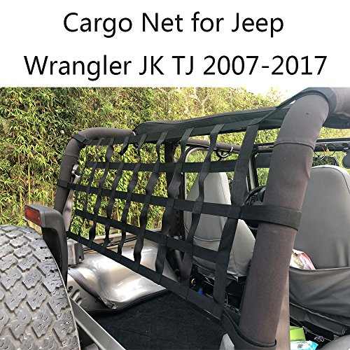 (JoyTutus Fits Jeep Wrangler Cargo Net for JK TJ 1997 to 2018 UTVs)