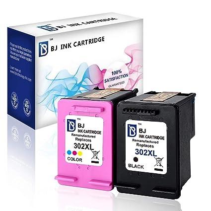 BJ - Cartucho de Tinta Reciclado HP 302XL F6U68AE F6U67AE de ...