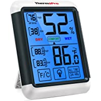 ThermoPro TP55 Digital Hygrometer Indoor Thermometer Humidity Gauge with Jumbo Touchscreen and Backlight Temperature…