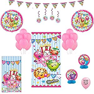 Amazon.com: Shopkins Feliz cumpleaños globo Kit para decorar ...